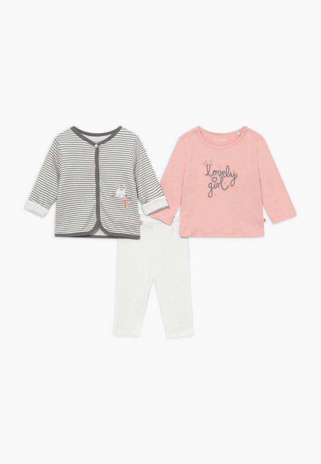 SET - Strickjacke - grey/light pink