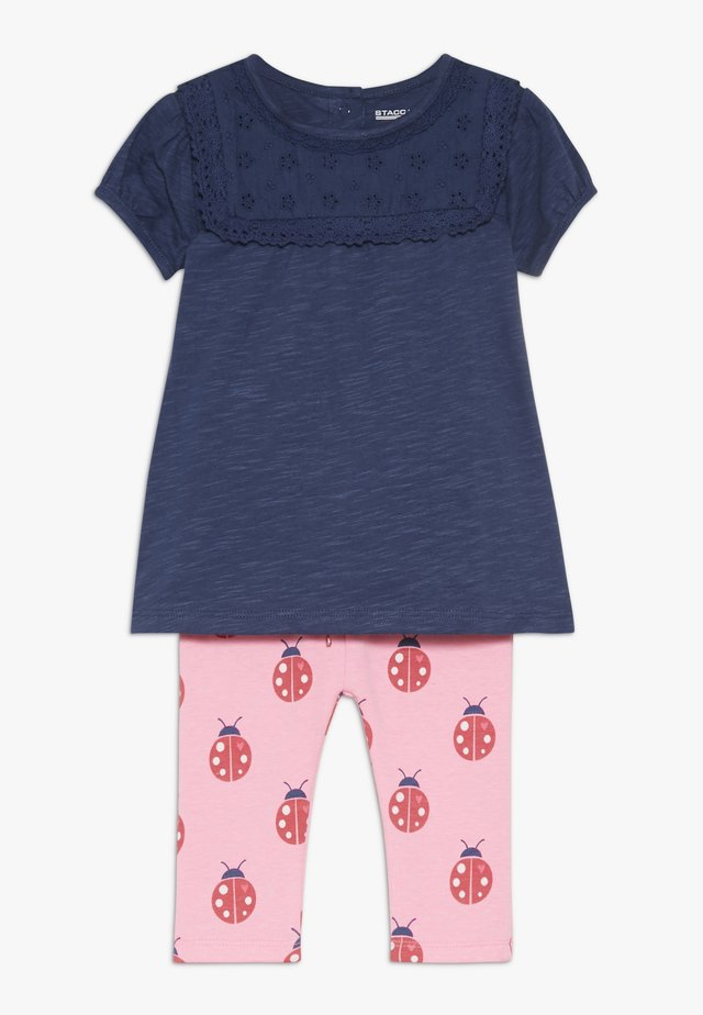 TUNIKA SET - Leggings - dark blue/pink
