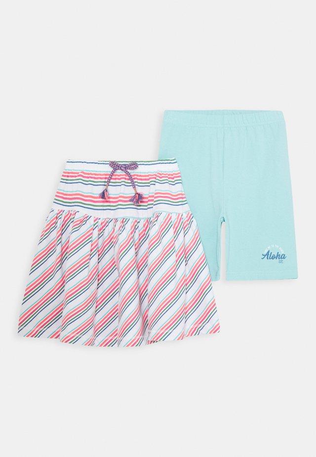 SET - Leggings - Trousers - soft white/sea green