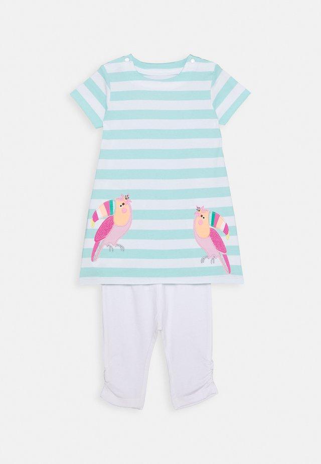 BABY KLEID SET - Legging - mint/white