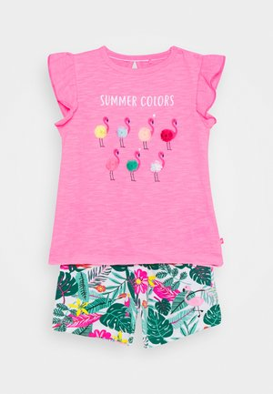 BABY SET - T-shirt print - pink/multi coloured