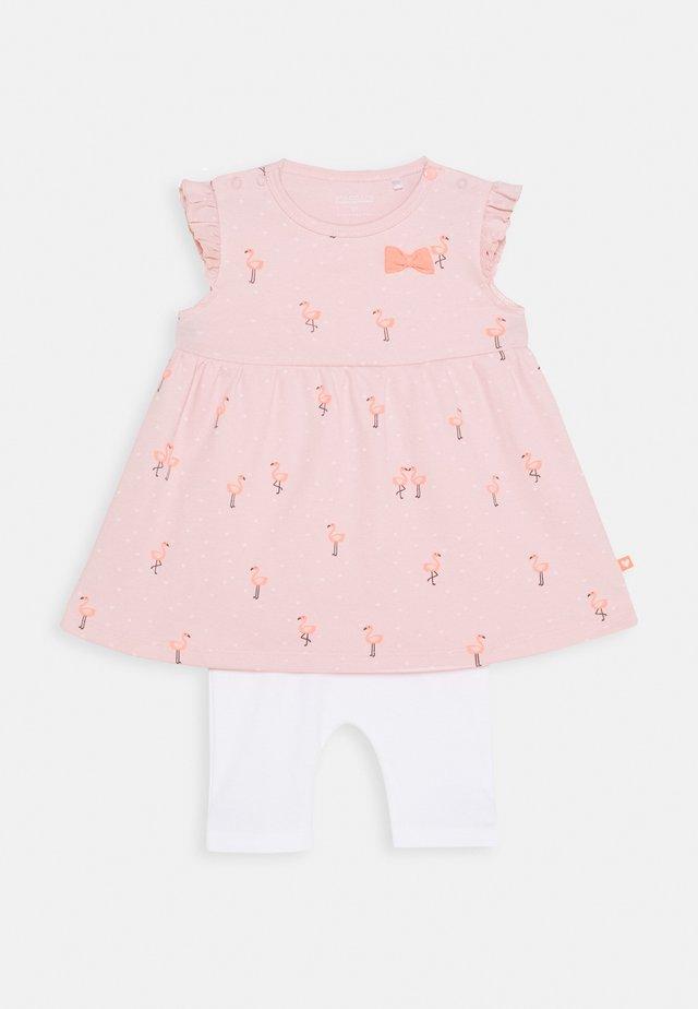 SET - Leggings - Hosen - light pink/off white