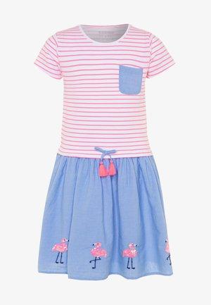 KID - Žerzejové šaty - neon rose