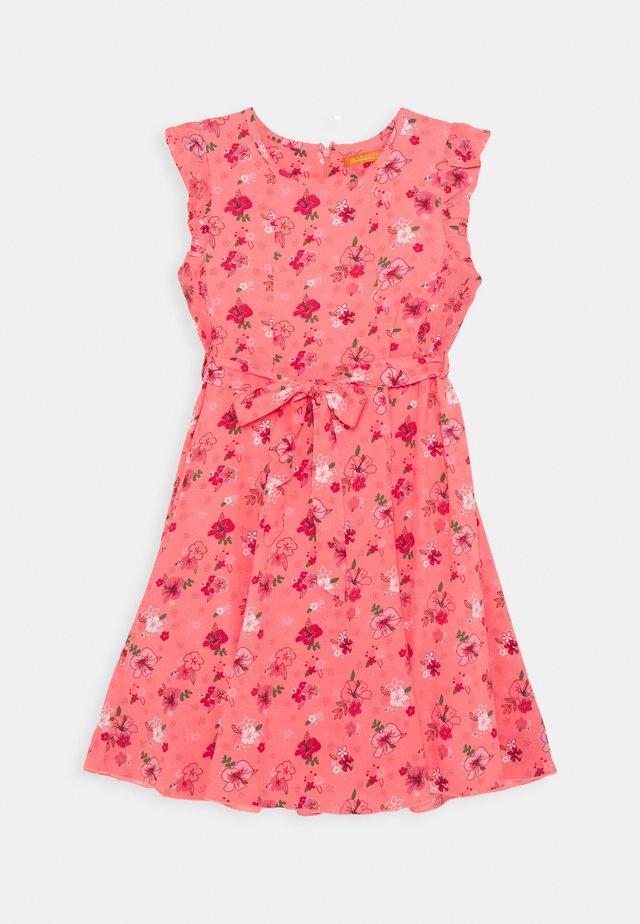 Korte jurk - neon red