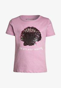Staccato - T-shirt z nadrukiem - mauve - 0