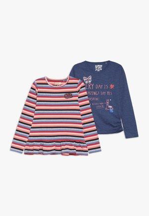 KID 2 PACK - Pitkähihainen paita - neon red