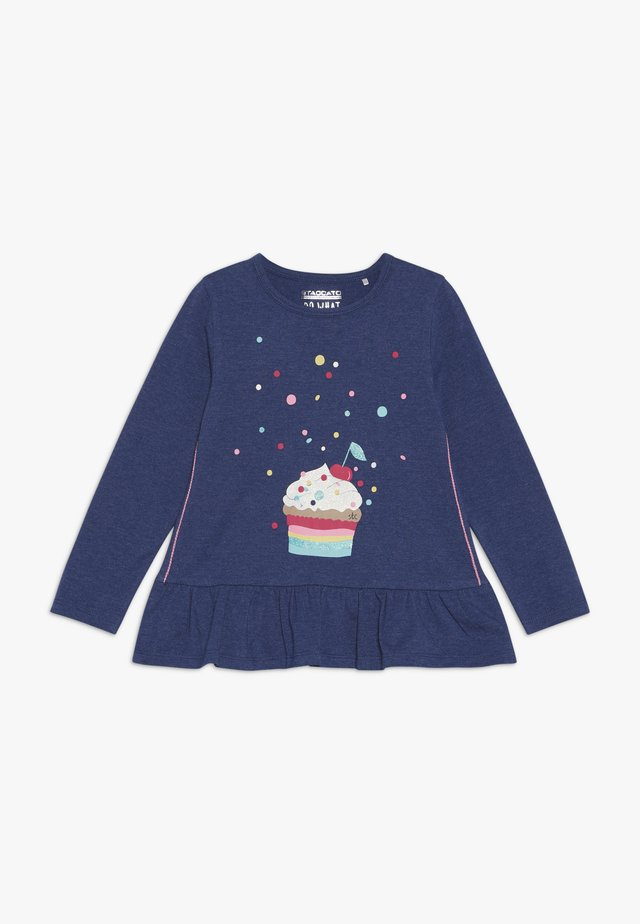 KID - Topper langermet - dark blue melange