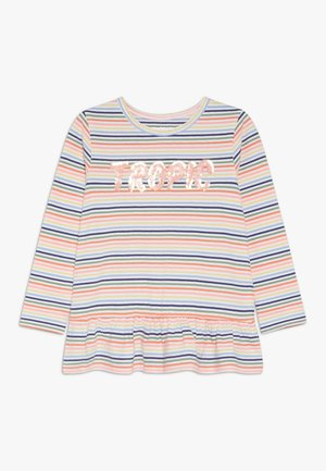 STREIFEN TUNIKA KID - Long sleeved top - neon peach