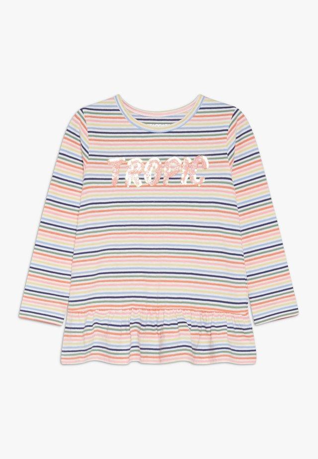 STREIFEN TUNIKA KID - Långärmad tröja - neon peach