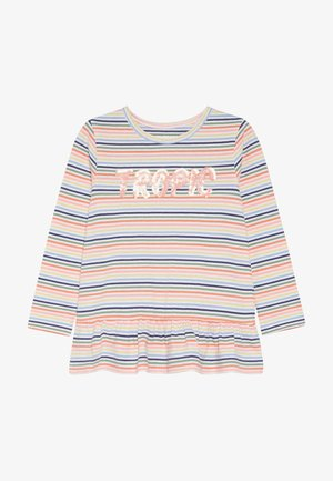 STREIFEN TUNIKA KID - T-shirt à manches longues - neon peach