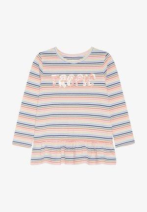 STREIFEN TUNIKA KID - Long sleeved top - neon peach