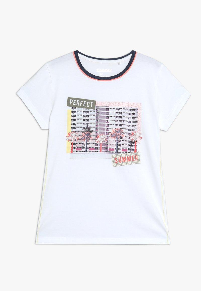 Staccato - TEENAGER - T-shirt z nadrukiem - soft white