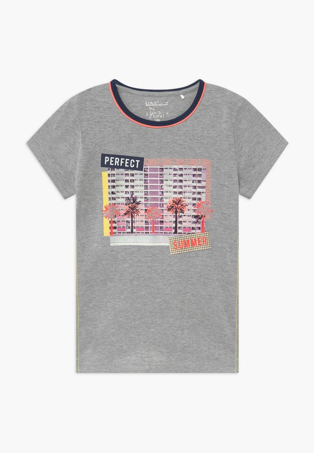 TEENAGER - Camiseta estampada - grey/orange