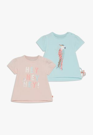 2 PACK - T-shirt con stampa - light pink/mint