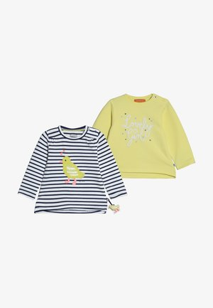 2 PACK - Long sleeved top - yellow/dark blue