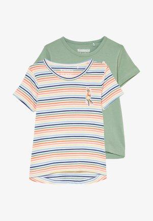 2 PACK - T-shirt print - neon peach