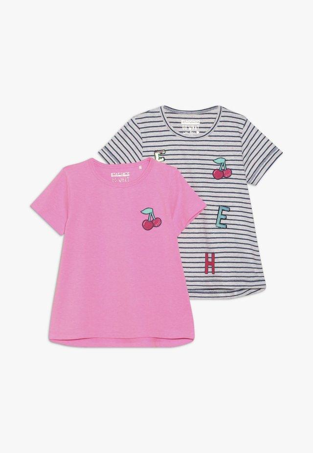 2 PACK - T-shirts med print - dark blue melange