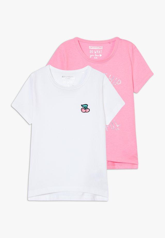 2 PACK - Print T-shirt - light pink