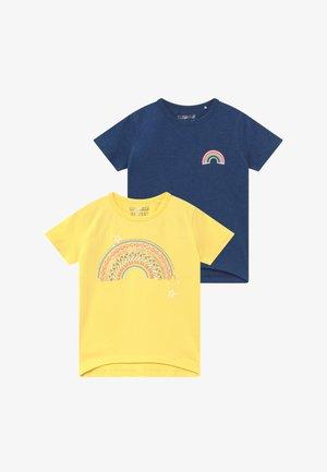 2 PACK  - T-shirts print - sun/blau