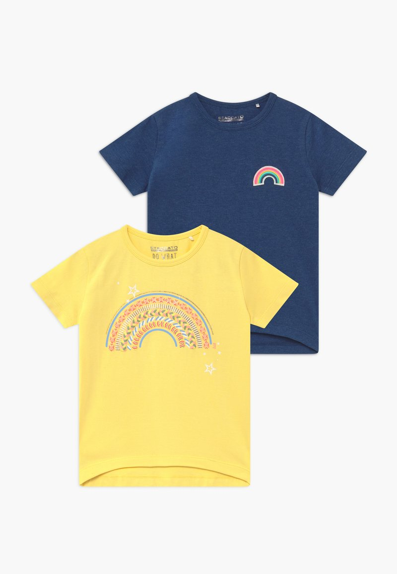 Staccato - 2 PACK  - Camiseta estampada - sun/blau