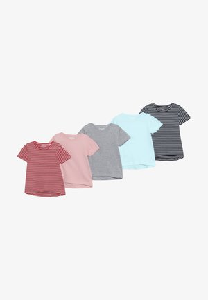 5 PACK - Print T-shirt - multi-coloured/dark blue/light pink