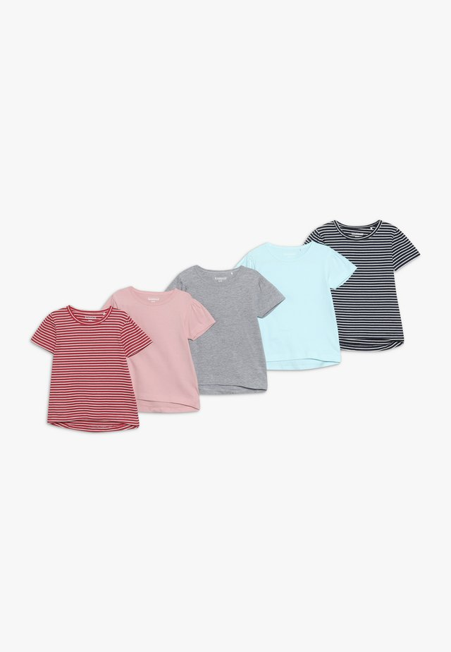 5 PACK - T-shirts med print - multi-coloured/dark blue/light pink