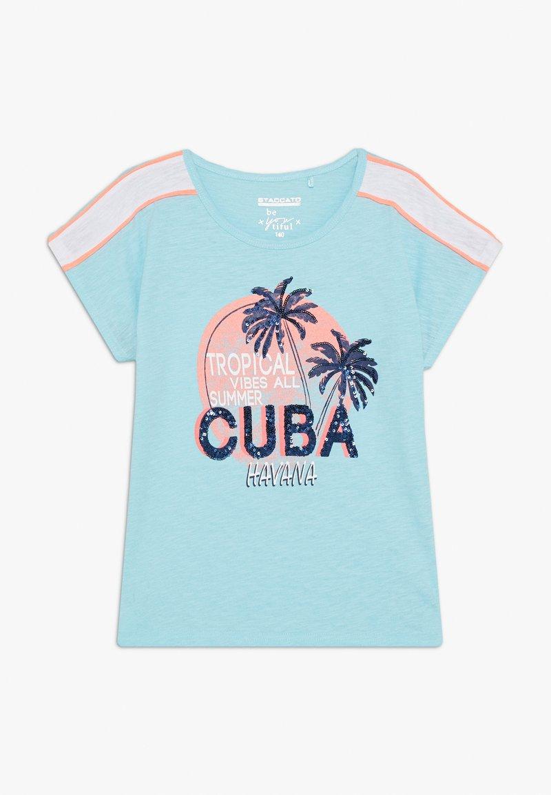 Staccato - BOXY TEENAGER - Print T-shirt - light sea
