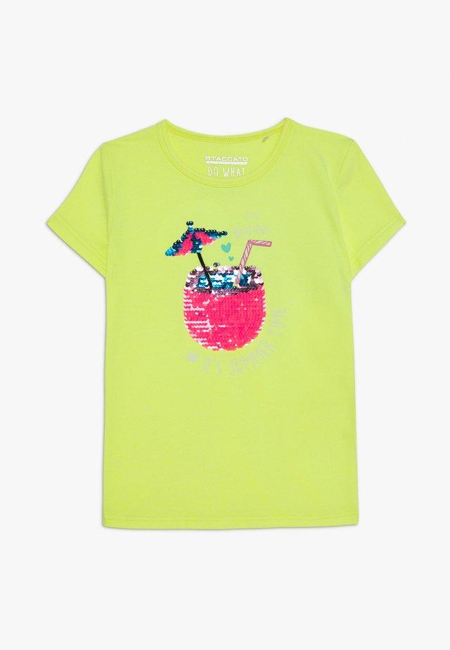 KID - T-shirts med print - neon sun