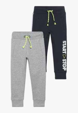 2 PACK - Pantalones deportivos - navy/grey