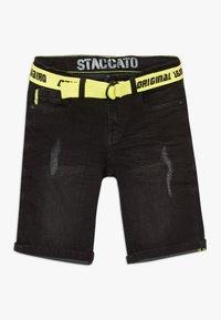 Staccato - TEENAGER - Džínové kraťasy - black denim - 0