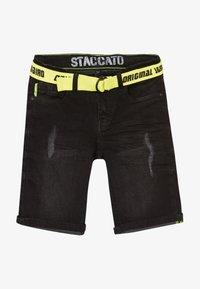 Staccato - TEENAGER - Džínové kraťasy - black denim - 3