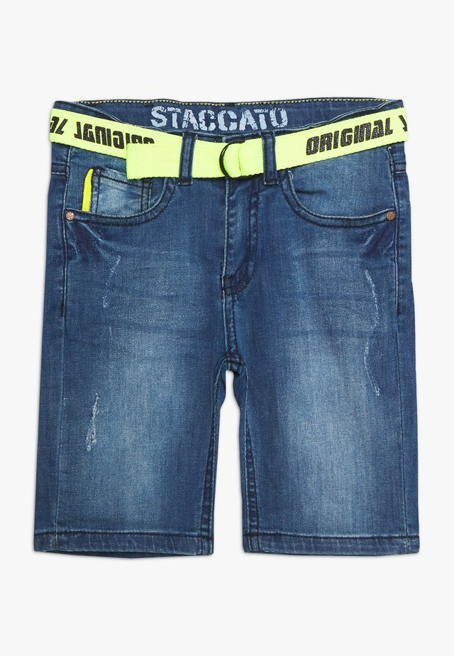 BERMUDAS GÜRTEL KID - Szorty jeansowe - blue denim