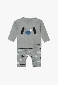 Staccato - BABY SET - Trousers - mottled grey - 0