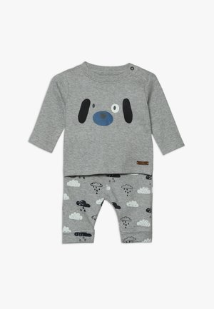 BABY SET - Stoffhose - mottled grey