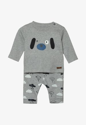 BABY SET - Trousers - mottled grey