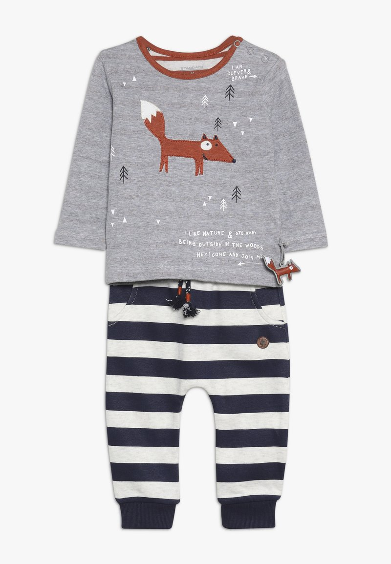 Staccato - WOODLAND BABY SET - Trousers - mottled grey