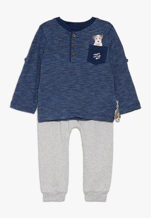 BABY SET  - Pantalon classique - blue/mottled grey