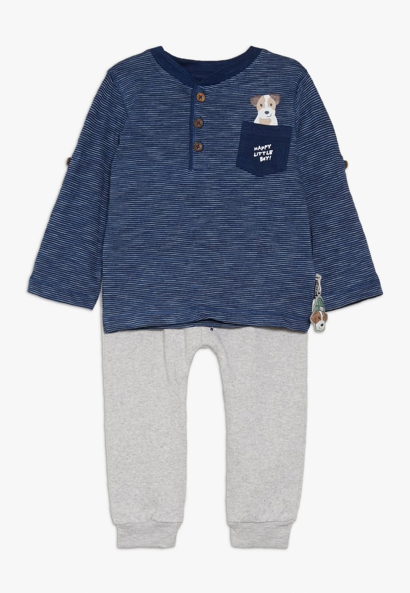 Staccato - BABY SET  - Trousers - blue/mottled grey