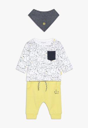 SET - Kalhoty - yellow/white