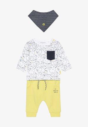 SET - Broek - yellow/white