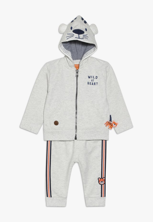 SET - Zip-up hoodie - mottled grey