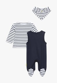 Staccato - SET - Halsdoek - dark blue/white - 1