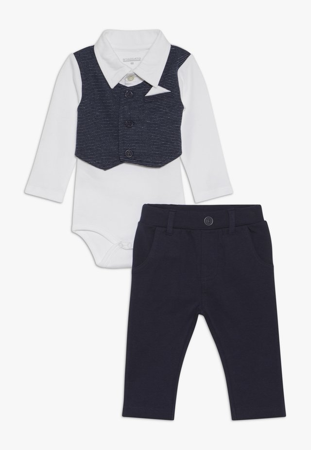 BODY MIT WESTE SET - Trousers - dark blue/white