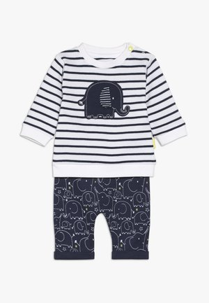 SET - Pantalones - dark blue/white