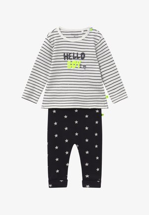 SET  - Pantalones - anthracite/off-white