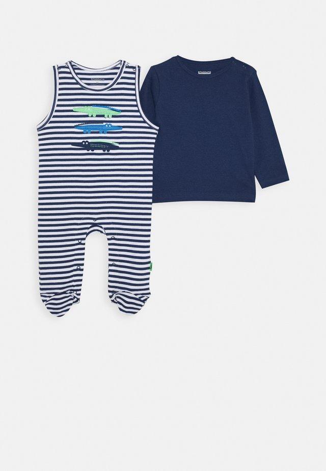LONGSLEEVE SET - Sleep suit - dark tinte