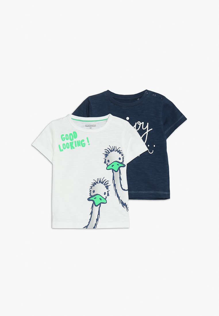 Staccato - 2 PACK - T-Shirt print - old white/deep sea