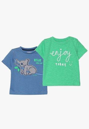 2 PACK - T-shirt imprimé - sea/bright green