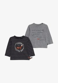 Staccato - WOODLAND BABY 2 PACK - T-shirt à manches longues - mottled grey/dark blue - 4