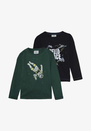 KID 2 PACK - T-shirt à manches longues - blau/grün